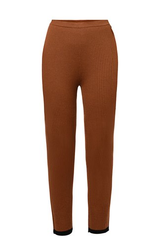 Grace Knitted Cropped Wool Pants