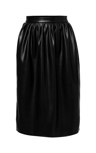 Zoe Pleated Vegan Leather Skirt