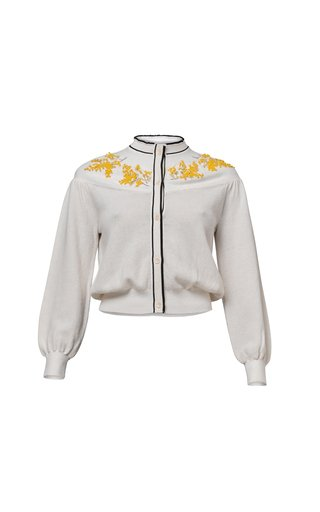 Layla Embroidered Cotton-Blend Cardigan