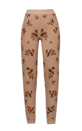 Giovanna Floral Knitted Wool-Mohair Pants