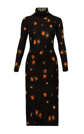 Gina Knitted Printed Wool-Mohair Dress