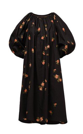 Rosa Pleated Floral Cotton Poplin Dress