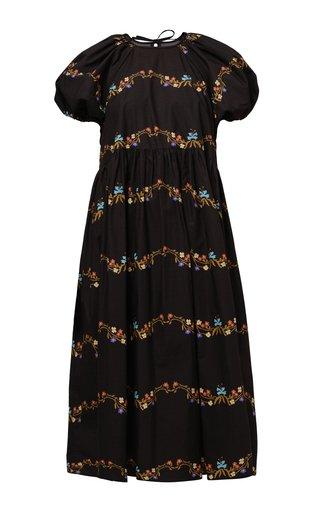 Stephanie Floral Cotton Poplin Dress