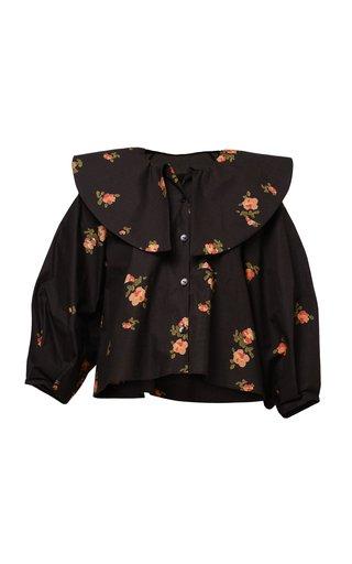 Olivia Floral Cotton Poplin Blouse