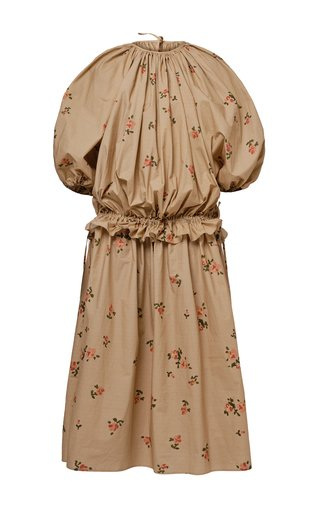 Nikita Pleated Floral Cotton Poplin Dress