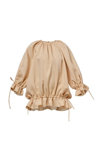 Julia Pleated Satin Dress