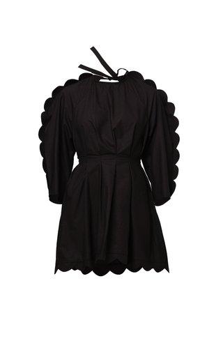 Alya Scalloped Cotton Poplin Dress