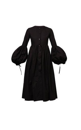Sophia Pleated Cotton Poplin Dress