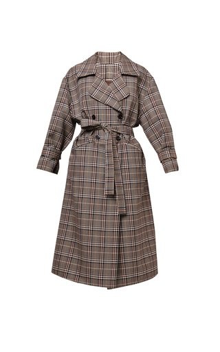 Nadia Checked Wool-Blend Coat