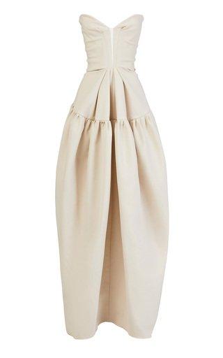 Platinum Strapless Cotton Gown