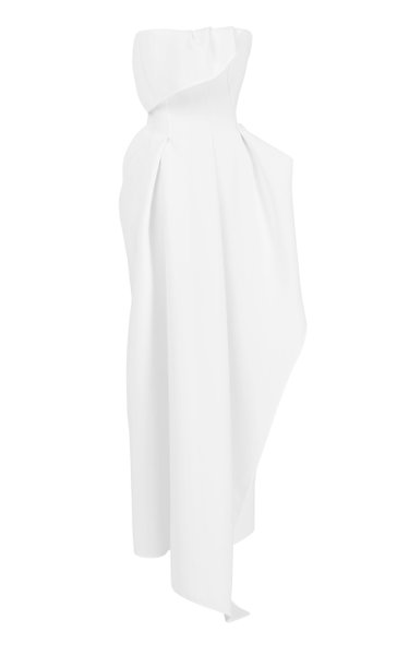Leander Strapless Crepe Gown