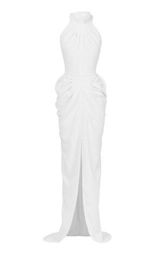 Regency Cotton Halter Gown