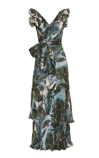 Amazona Printed Chiffon Maxi Dress