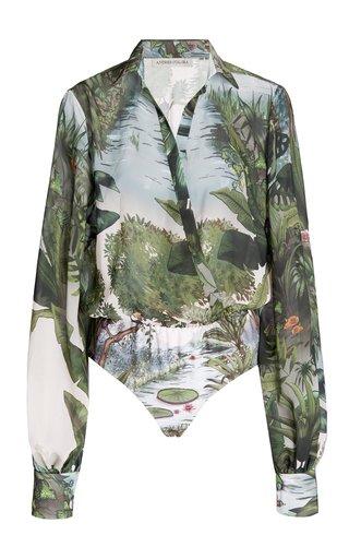 Cuenca Printed Chiffon Bodysuit