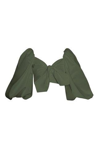 Orquidea Balloon-Sleeve Cotton Top