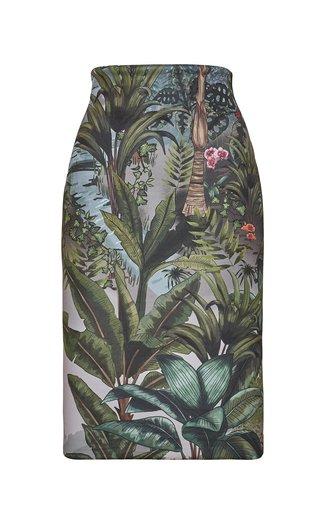Habitat Printed Crepe Pencil Skirt