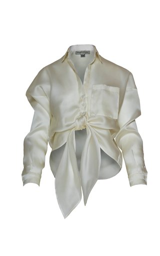 Macedonia Bow-Detail Silk Blouse