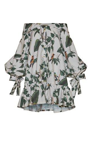 Guacamaya Printed Cotton Poplin Mini Dress