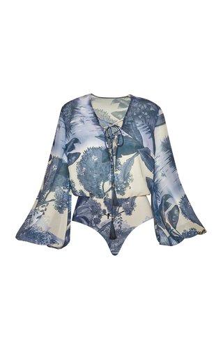 Tamarino Printed Chiffon Bodysuit