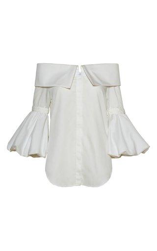 Belladona Braid-Detail Cotton Blouse