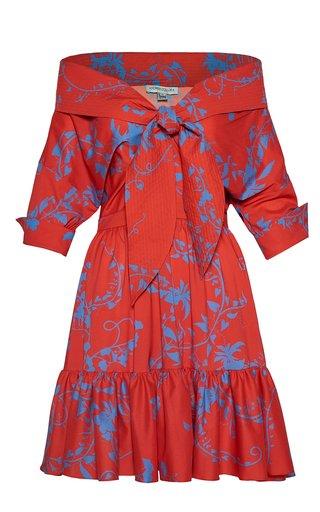 Yavari Printed Crepe Mini Dress