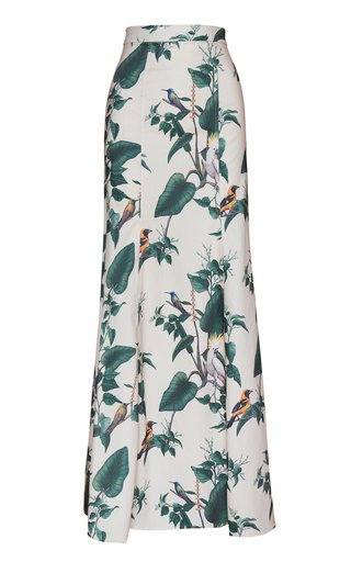 Tropicana Printed Crepe Maxi Skirt