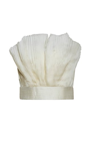 Gingko Pleated Silk Top