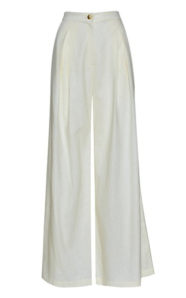 Raices Linen Wide-Leg Pants