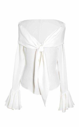 Delfina Tie-Detailed Silk Blouse