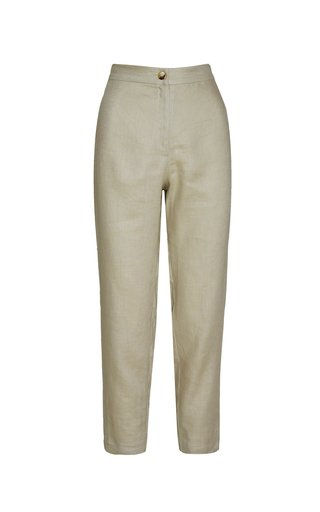 Isla Slim-Fit Linen Pants