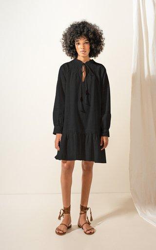 Colibri Tassel-Detail Linen Mini Dress