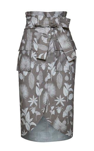 Harpia Printed Cotton Pencil Skirt