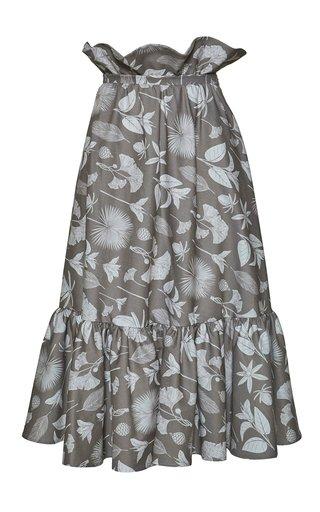 Pesca Printed Cotton Midi Skirt
