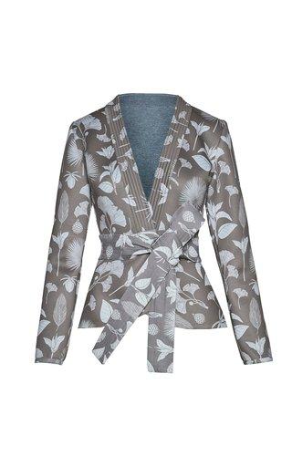 Sequoia Printed Belted Crepe Jacket