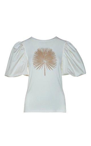 Capibara Embroidered Cotton T-Shirt
