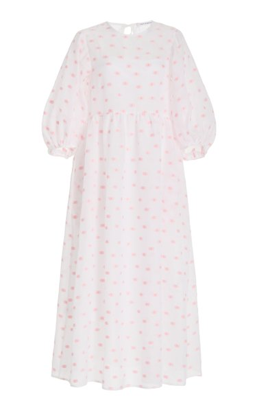 Karmen Printed Cloqué Midi Dress