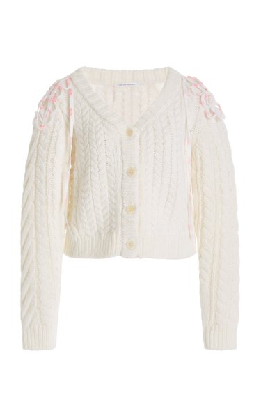 Milo Convertible Cable-Knit Wool-Blend Cardigan