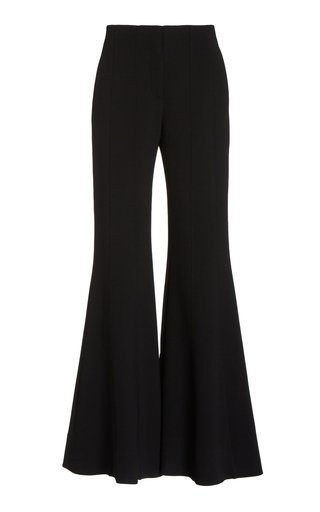 Textured Suiting Flared Pants