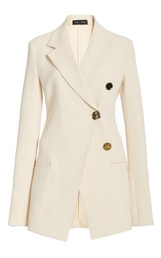 Textured Collared Suiting Blazer