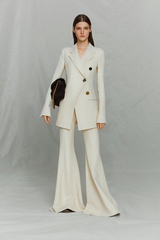 Textured Front Pleat Suiting Pants