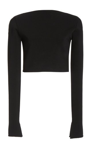 Cropped Matte Crepe Top