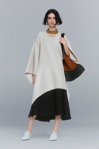 Double-Faced Wool-Cashmere Caftan