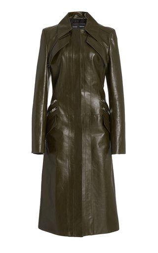 Longline Leather Coat