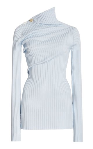 Twist-Detail Ribbed Knit Top