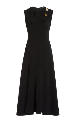 Tiered Matte Crepe Dress