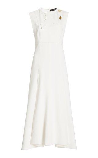 A-Line Matte Crepe Dress