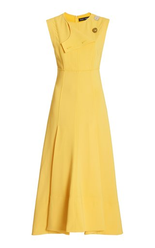 A-Line Tiered Matte Crepe Dress