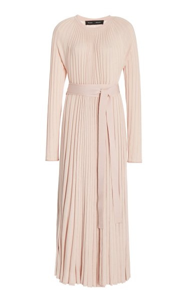 Pleated Silk-Cashmere Dress
