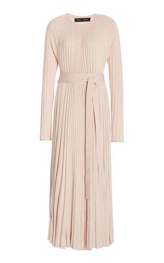 Pleated Silk-Cashmere Dress