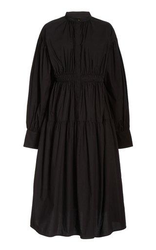 Cotton Poplin Open-Back Dress